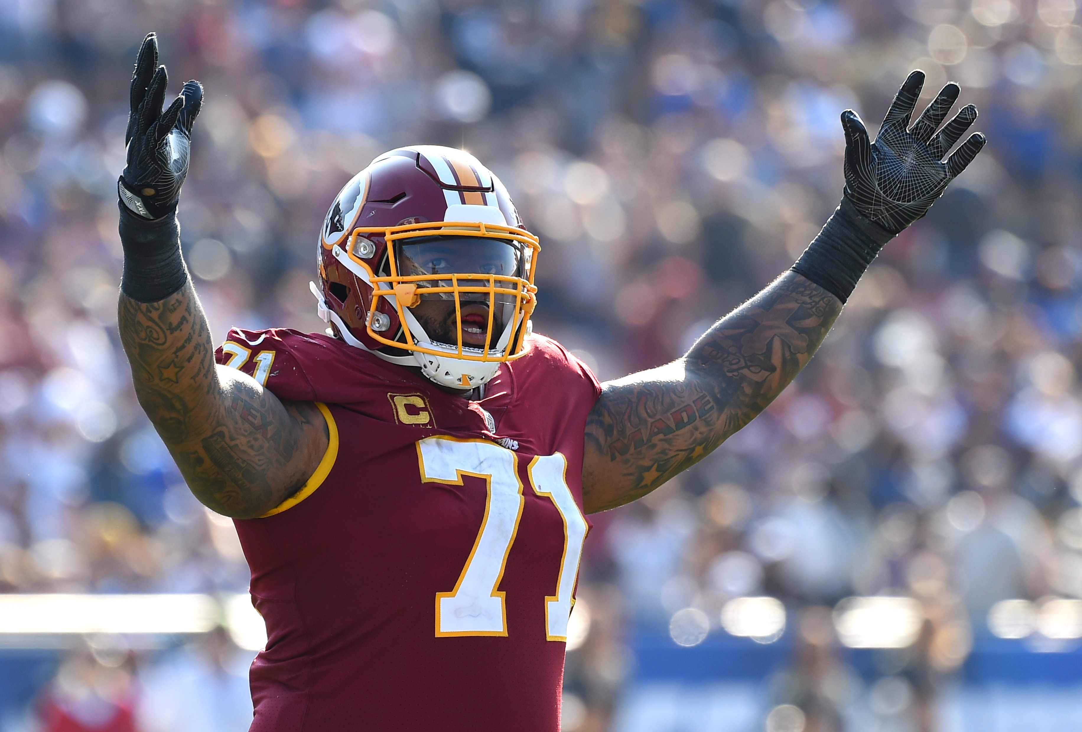 Redskins Trent Williams also known as Silverback takes us