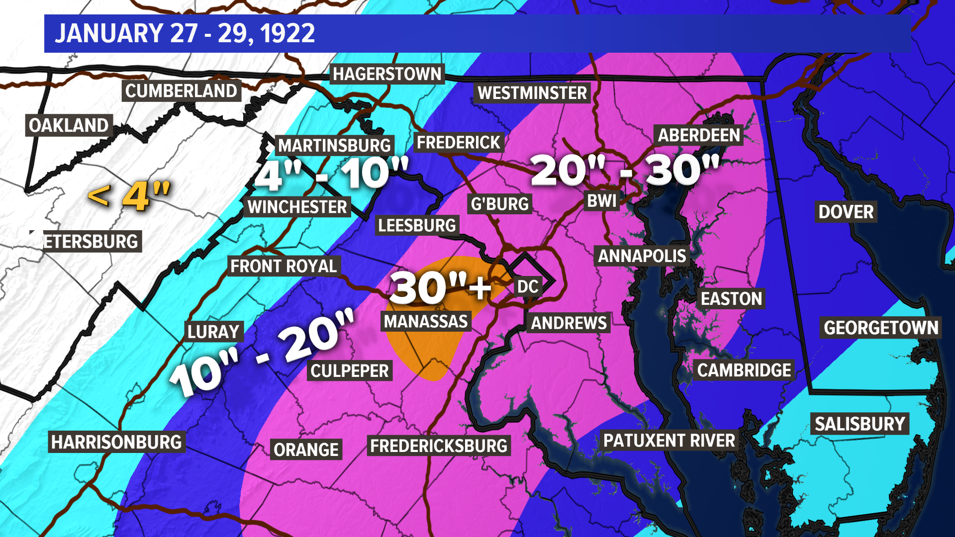 DC's 15 worst winter storms | wusa9.com Snow Fall Totals Map on northeast snow depth map, snow accumulation map, snow belt map, 24 hour snow map, snow in uk today, snow prediction map, first snow map, snow in southeast, new england snow map, snow storm map, national snow map, snow on east coast 2013, snow conditions in new hampshire, snow in upstate new york, snow in newark new jersey, snow forecast map, lake effect snow map, snow kentucky map, snow fall map, snow forecast for washington state,